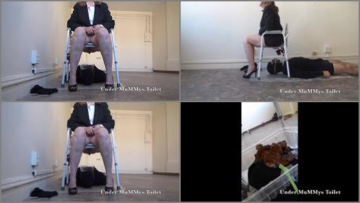 Humiliation –  Under MuMMys Toilet – Open Your Mouth and Take My Shit TOILET